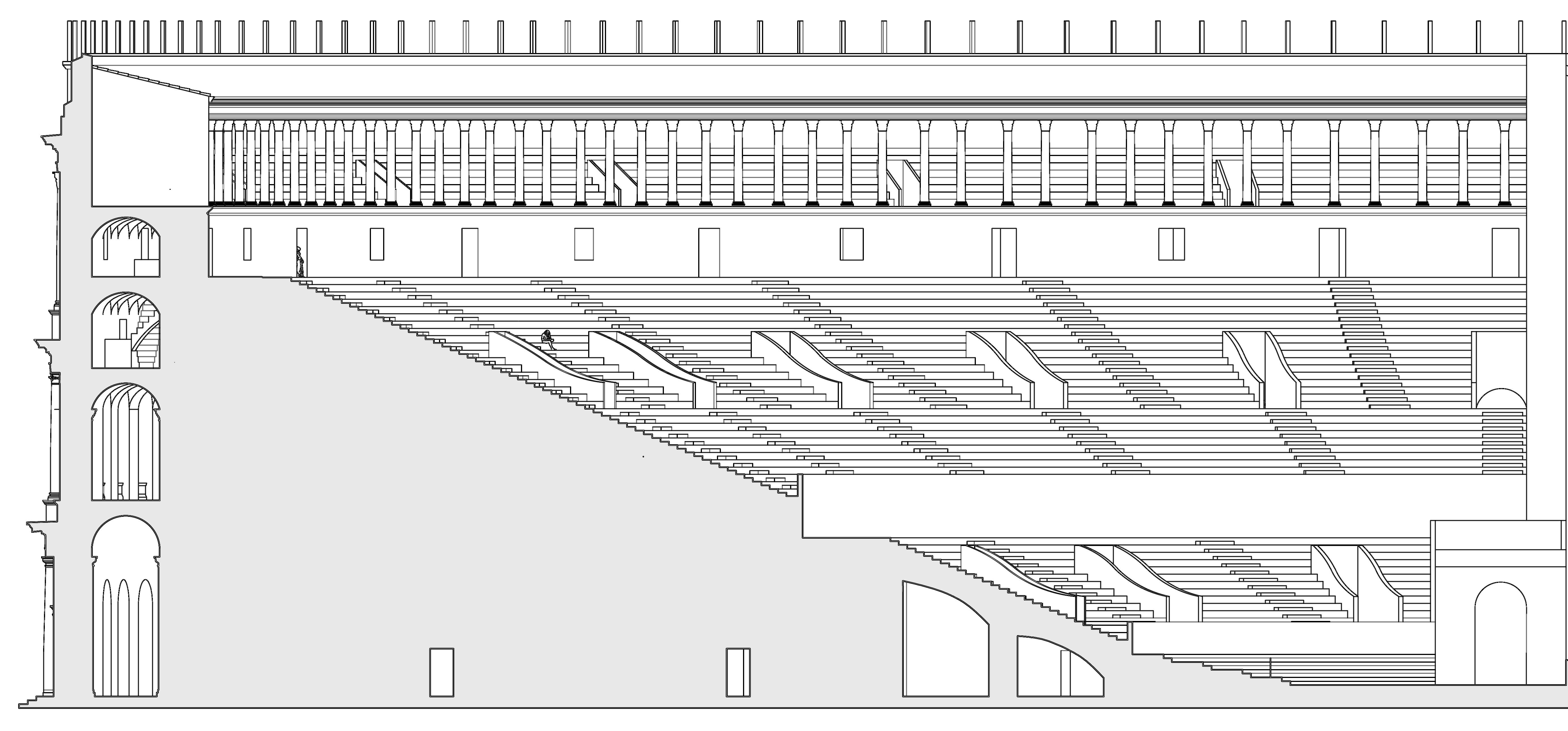 Teatro di Pompeo Roma - 2015  Disegni ricostruttivi.
